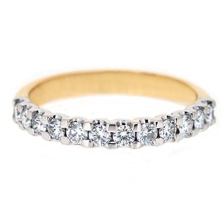 Two Tone Scalloped Diamond Ring | B19989