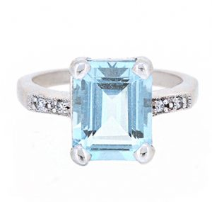 aquamarine ring | B20015