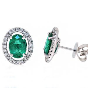 emerald earrings | B20057