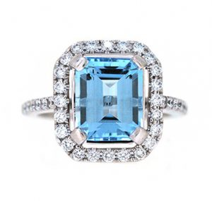 aquamarine ring | B20060