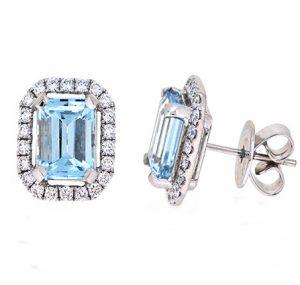 aquamarine earrings | B20061