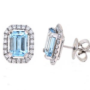 aquamarine earrings | B20061