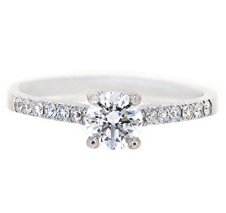 Four Claw Diamond Engagement Ring | B20062