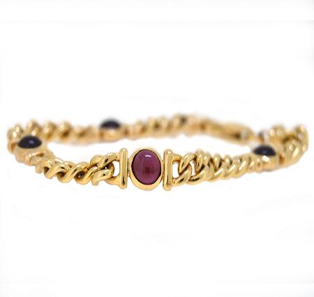 garnet bracelet   B9657