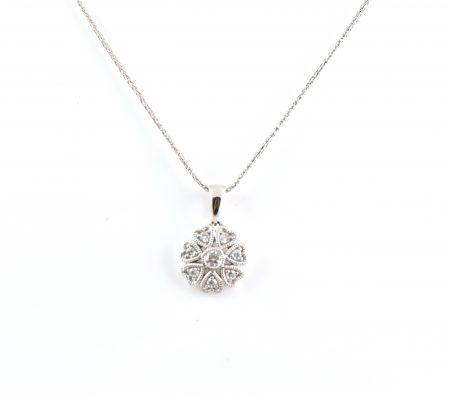 Diamond Cluster Pendant   B19273