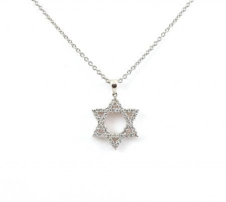 Diamond And Star Of David Pendant | B8396