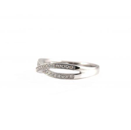 Infinity Shape Diamond Wedding Ring   B19196