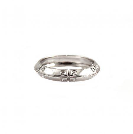 Knife Edge Diamond Set Wedding Ring | B15185