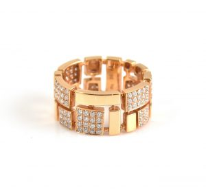Rose Gold Diamond Dress Ring | B13296