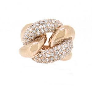 Diamond Chain Link Ring | b15973