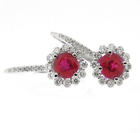 ruby earrings | B16456
