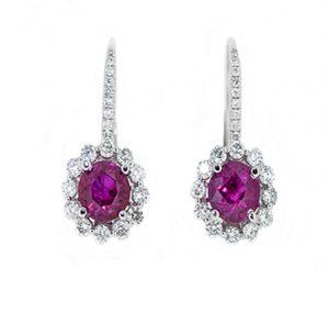 ruby earrings | B16456