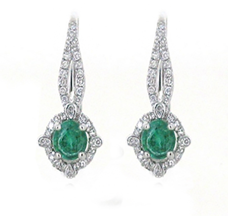 emerald earrings | B17453