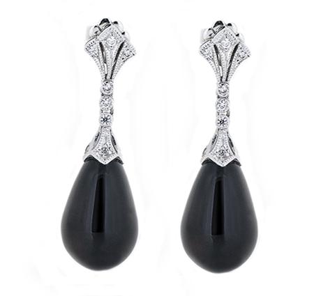 onyx earrings   B17663
