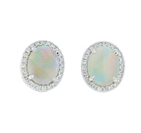 opal earrings   B18161