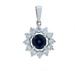 sapphire pendant | B18401