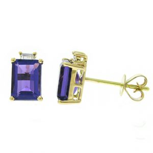 amethyst earrings | B18509