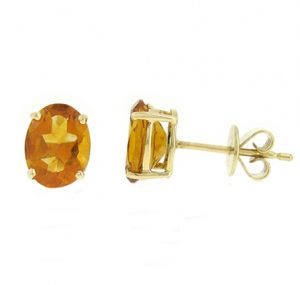 citrine earrings | B18511