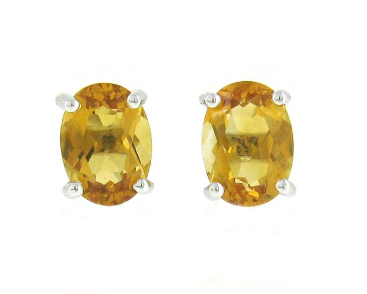 citrine earrings | B18513
