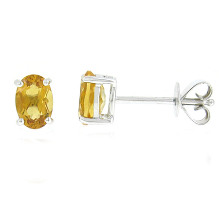 citrine earrings | B18513