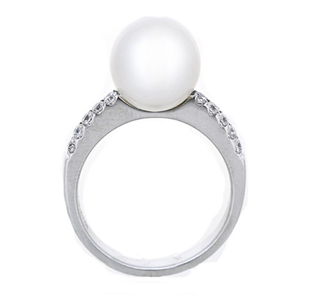 south sea pearl ring | B19518