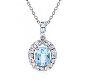 aquamarine pendant | B19820