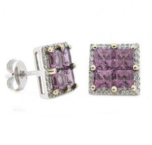 garnet earrings | B8478