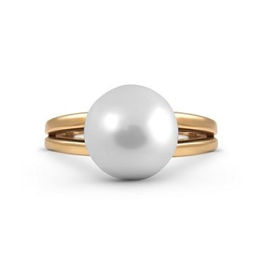 Yellow Gold South Sea Pearl Ring | B18262