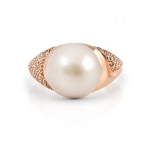 Autore rose gold South Sea pearl ring | B13905