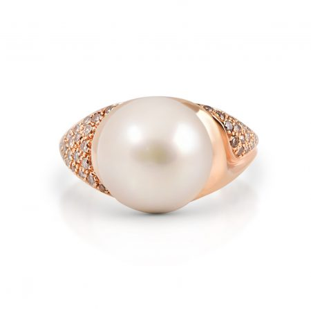 Autore rose gold South Sea pearl ring   B13905