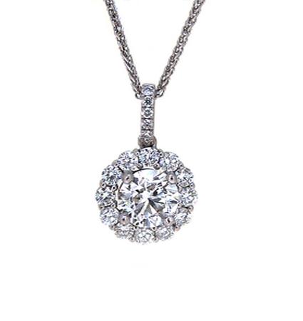 Halo diamond pendant | B19581