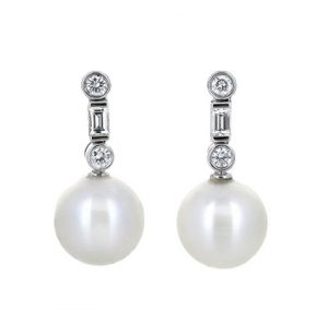 South sea pearl earrings | B19892