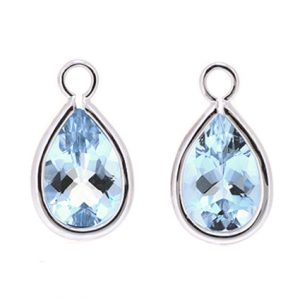 Aquamarine earring enhancers | B20108