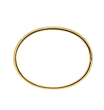 Yellow Gold Diamond Bangle | B20340