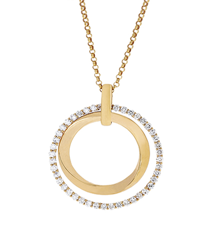 Diamond Circle Pendant | B20164