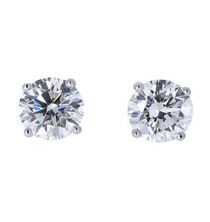 Diamond stud earrings   B20540