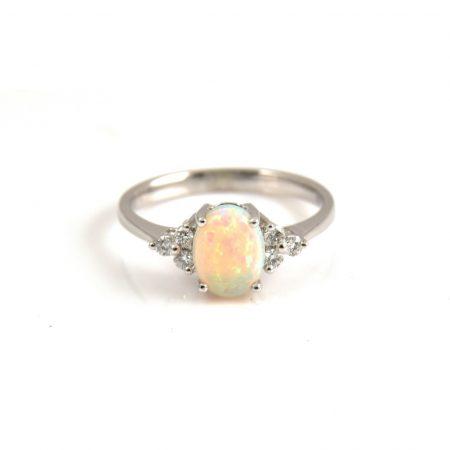 Opal And Diamond Ring | B20920