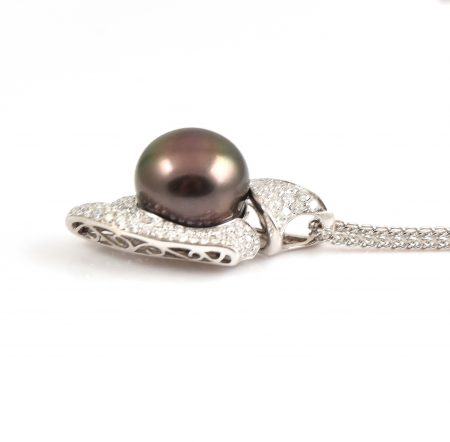 Tahitian South Sea Pearl And Diamond Pendant | B17102