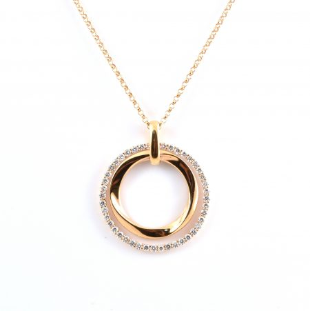 Double Circle Diamond Pendant | B20164