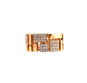 Rose Gold Diamond Dress Ring | B13296