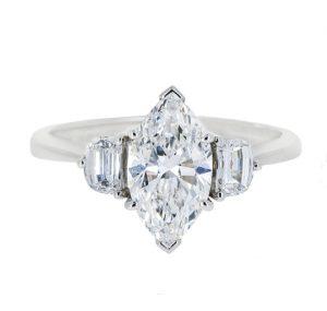 Marquise Diamond Engagement Ring | B20430