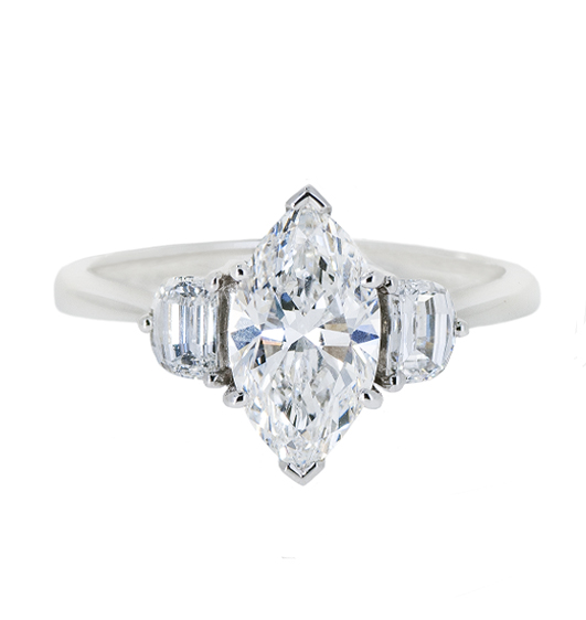 Marquise Diamond Engagement Ring | B20430