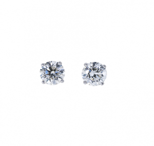 Round Brilliant Diamond Stud Earrings | B22346