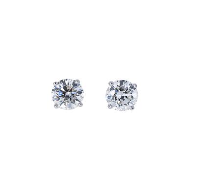 Round Brilliant Diamond Stud Earrings | B22346