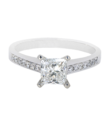 Princess Cut Diamond Engagement Ring | B20288