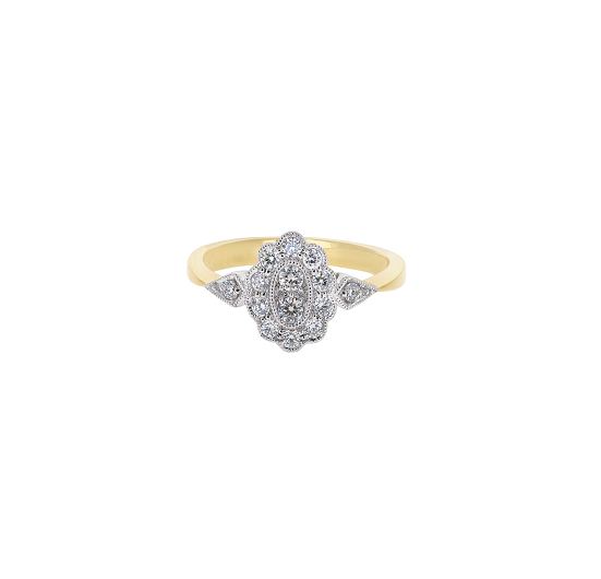 Deco Style Diamond Dress Ring | B20514