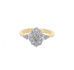 Deco Style Diamond Dress Ring | B20514