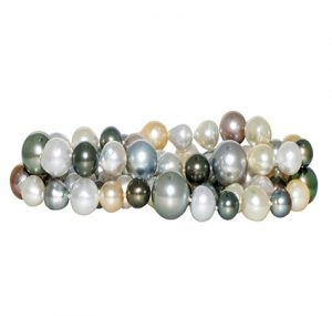 multi-colour South Sea pearl strand | B20621