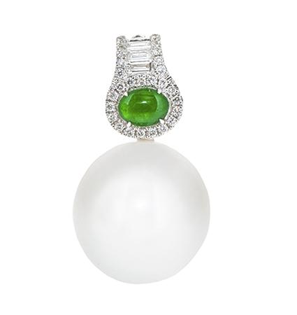 South Sea Pearl And Jade Pendant | B20661