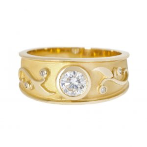 Art Nouveau diamond engagement ring | B20647